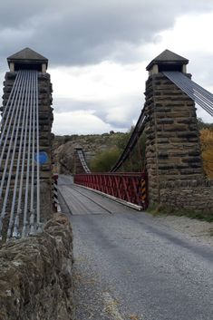 #ontheroadkiwis. The 1880 Daniel O'Connell Bridge is a single lane road bridge providing access to Ophir. Constructed between 1879 and 1880, this attractive structure is a characteristic example of Central Otago suspension bridge with schist masonry towers. The bridge is named after the 19th-century Irish nationalist.