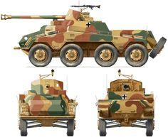 """Sd.Kfz.234-4 """"Puma""""часть не известна .( вариант окраски очень схож с оригиналом фото.)"""