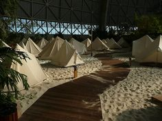Tropical Island Berlin - stayed in these exact tents!