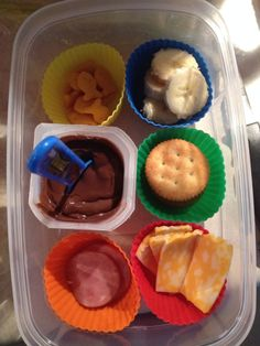 Homemade lunchable. I plan on sending a lot of these to school with my son this year