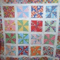 Kaleidoscope Pinwheel Quilt | FaveQuilts.com