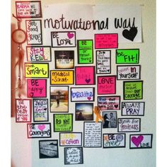 Alicia's motivational board. #motivation #inspiration #determination