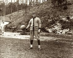 Ed Konetchy - Pittsburgh Pirates. Spring training in Arkansas (April 8, 1914)