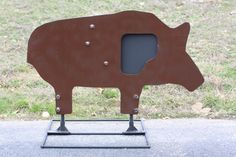 High Velocity Steel Target, Hog with Swing Out Vitals