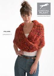 Modèle de tricot - Chauffe épaule - Catalogue Cheval Blanc n°17 - Laine utilisée : POLAIRE