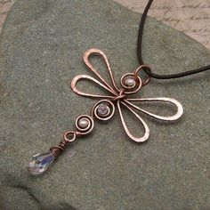 beautiful dragonfly pendant