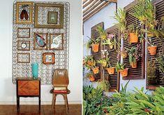 Galeria particular Em ferros-velhos é possível encontrar a estrutura de molas que pertenceu a um colchão antigo. Prenda-a na parede com dois...