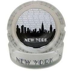 "NYC """"Grey Skyline"""" Frosted Glass Ashtray"