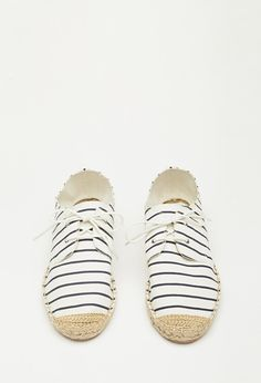 Striped Lace-Up Espadrilles | Forever 21