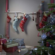 Hanging stockings without a mantle Holiday Ideas Pinterest
