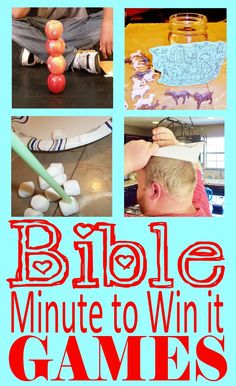HollysHome - Church Fun: Minute to Win it - Old Testament Bible Style Games Sunday School Activities, Sunday School Lessons, Sunday School Crafts, Summer Activities, Indoor Activities, Youth Group Activities, Church Activities, Kids Church Games, Church Camp