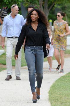 Serena Williams.  Purposeful.