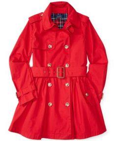 Ralph Lauren Little Girls' Lightweight Trench Coat | macys.com