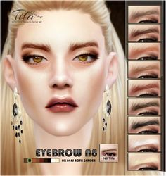 Sims 4 CC's - The Best: Eyebrows by Tifa