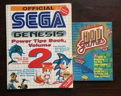 Official Sega Genesis Power Tips # 2 & HOT GAMES codes Strategy Guide ECCO SONIC