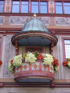 Tubingen: balcón del ayuntamiento.