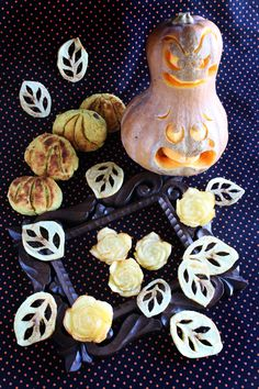 Butternut squash,sweet potato&potato carving carved by pan