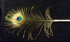 Peacock Feather Pen Beautifully Iridescent by CherylsGoodStuff, $6.50