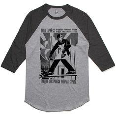 theIndie Russian Poster (Black) 3/4-Sleeve Raglan Baseball T-Shirt