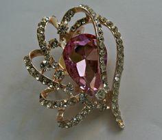 Pink Jewel crystal gem brooch
