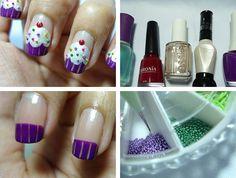 Cupcake fingernails