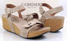 Women's Shoes Cordani ASTRO Leather Wedge Sandals Beige EU 41 Made in Italy #Cordani #Strappy #WalkingHiking