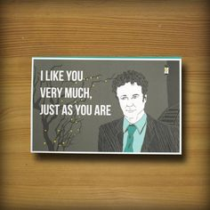 Ron Swanson Parks and Recreation Birthday Card by WYWHCards