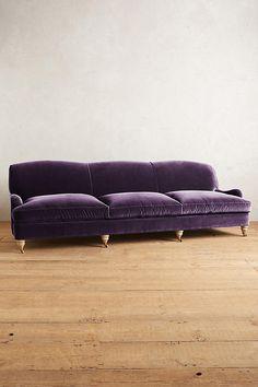 Slide View: 1: Velvet Glenlee Grand Sofa, Wilcox