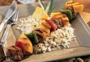 Teriyaki Pork Kebabs with Asian Rice - The Pampered Chef® Asian seasoning Posole Recipe Chicken, Chicken Recipes, Pork Kabobs, Skewers, Asian Seasoning, Asian Rice, Pampered Chef Recipes, Creamy Chicken, Grilling Recipes