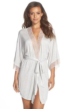 Eberjey Lace Trim Kimono Robe available at #Nordstrom