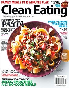 Clean eating is about consuming food in its most natural state, or as close to it as possible. It's a lifestyle approach to food and its preparation, leading to an improved life. Each issue is filled with a variety of delicious, wholesome, low-fat, and easily made recipes that can be shared with friends and family.