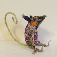 Image of Herb - A textile Mouse Sculpture