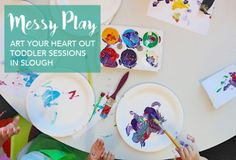 FREE Messy Play Toddler Sessions in Slough with Art Your Heart Out. Tuesdays 10am at the Curve, Fridays 10am at Cippenham Library. Painting, Crafts, Playdoh, Colouring, Glueing. Friendly group, drop-in, no need to book, and in the library if your child wants to look at books/run around afterwards. Toddler Activity Class,  Berkshire
