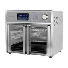 Kalorik 26-qt. Digital MAXX Air Fryer Toaster Oven As Seen on TV | Kohls Kalorik Air Fryer, Searing Meat, The Maxx, Oven Canning, Stainless Steel Oven, Glass French Doors, Heating Element, See On Tv, Baking Pans