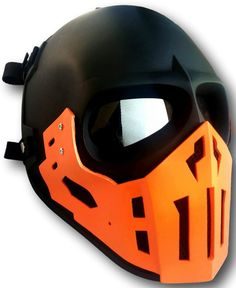 AIRSOFT MASK ARMY OF TWO PAINTBALL BB GUN HELMET COSPLAY MORTAL KOMBAT SCORPION