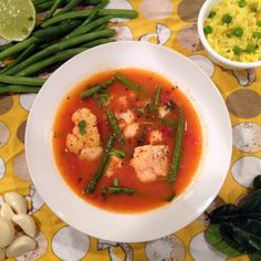 Thai Red Curry Vegetable Soup - 105 calories per big, yummy serving!