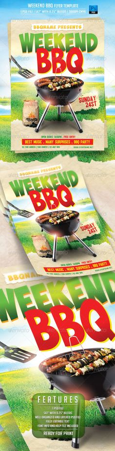 Bbq Party Flyer Template Psd | Party Flyer, Flyer Template And