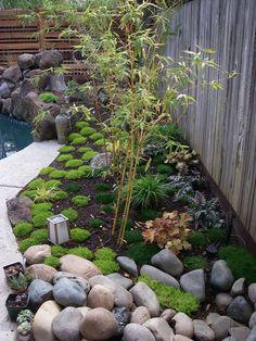 kleiner japanischer garten ideen pflanzen bambus steine #garden #ideas
