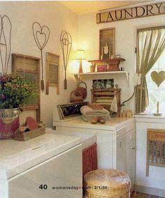 Love this laundry room! Woman's World Magazine