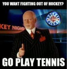 "Don Cherry born in Kingston, Ontario, is a Canadian ice hockey commentator for CBC Television. Cherry co-hosts the ""Coach's Corner"" intermission segment (with Ron MacLean) on the long-running Canadian sports program Hockey Night in Canada. Hockey Games, Hockey Mom, Ice Hockey, Hockey Stuff, Hockey Coach, Don Cherry, Best Kids Watches, Nhl Players, Play Tennis"
