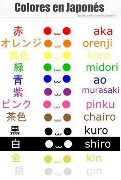 Colores en japonés.