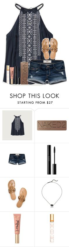 """Night everyone!"" by kyliegrace ❤ liked on Polyvore featuring beauty, Abercrombie & Fitch, Urban Decay, Hollister Co., shu uemura, Tory Burch, Kendra Scott and Too Faced Cosmetics"