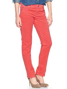 1969 real straight cords - coral reef | Gap (minus the heels)