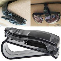 XuBa Car Sunglasses Clips Box Organizer Case Sun Visor Sunshade Bag Card Holder Interior Car Accessories Black