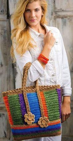 Marvelous Crochet A Shell Stitch Purse Bag Ideas. Wonderful Crochet A Shell Stitch Purse Bag Ideas. Free Crochet Bag, Mode Crochet, Crochet Shell Stitch, Crochet Gratis, Crochet Tote, Crochet Handbags, Crochet Purses, Knit Crochet, Crochet World