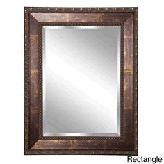 the handsome roman copper bronze beveled wall mirror will add a touch of elegance to any