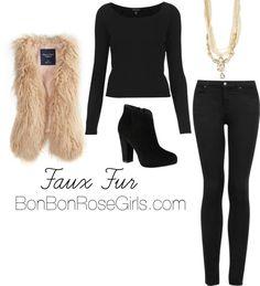 how to wear a faux fur vest