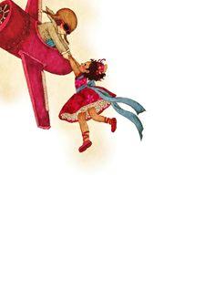 La Freccia Azzurra book illustration by Khoa Le, via Behance