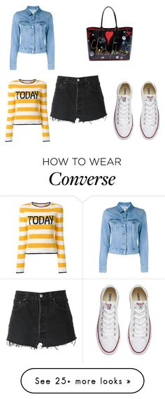 """""""Untitled #5289"""" by sarasilva07 on Polyvore featuring Alberta Ferretti, Converse, RE/DONE, Acne Studios and Christian Louboutin"""
