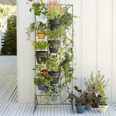 Vertical Herb Display for your #porch from CasaSugar.